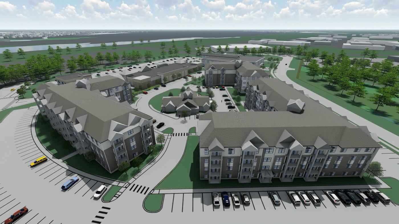 Rendering of Halyard Apartments in Gloucester, Massachusetts