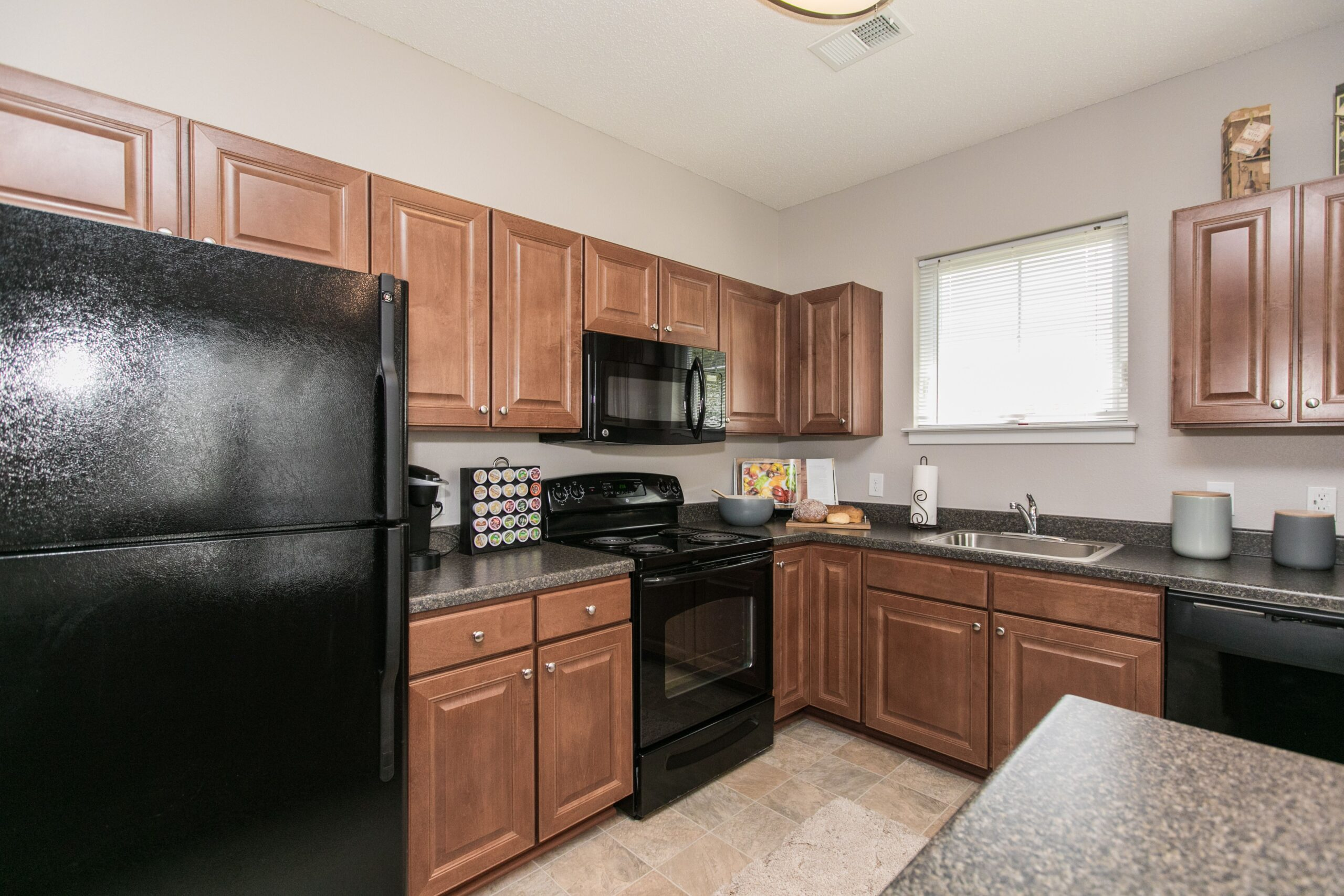 Luxury kitchen inside Charlestown Crossing apartments in MD