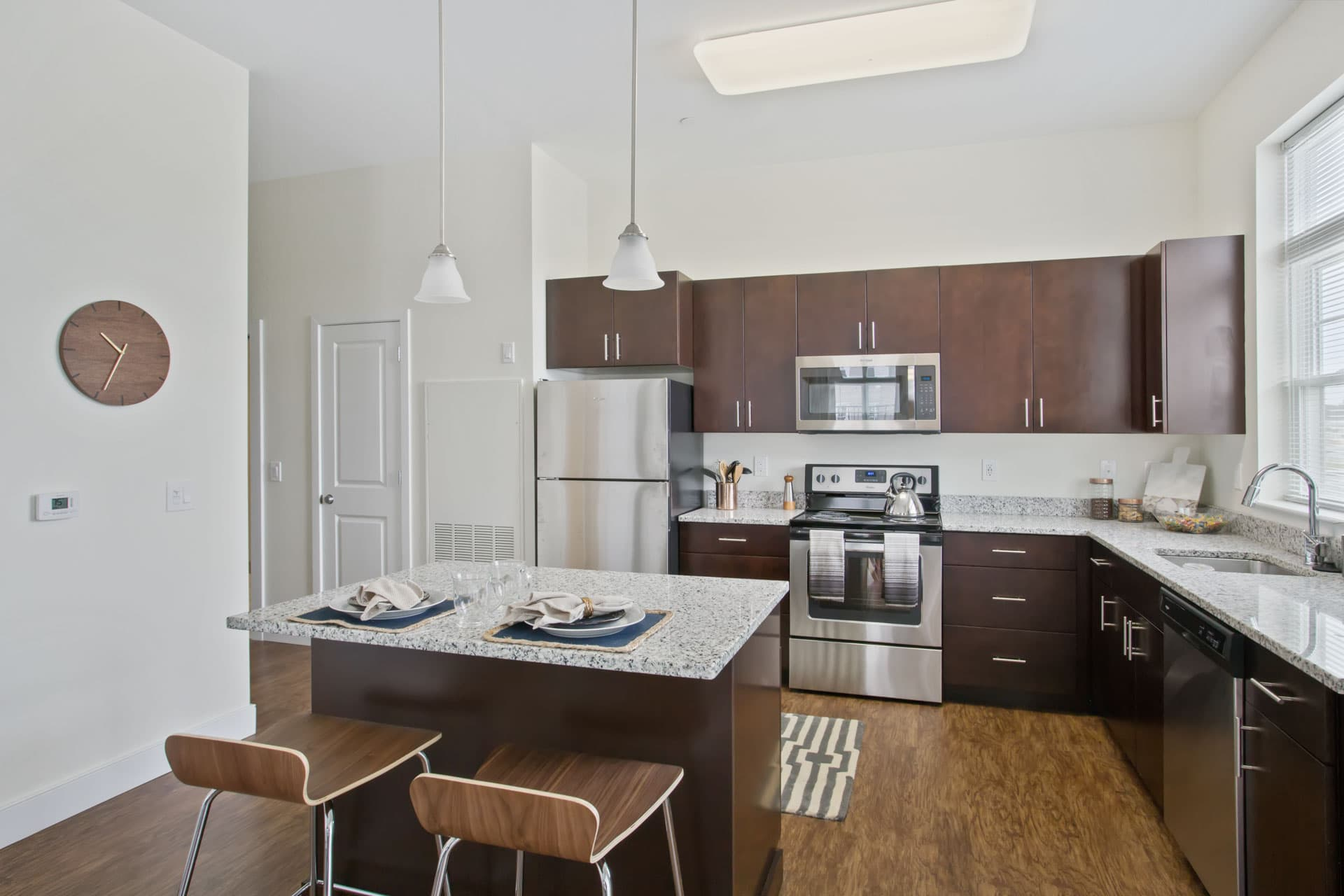 Luxury kitchen inside the Corsa Apartments in Salem, New Hampshire