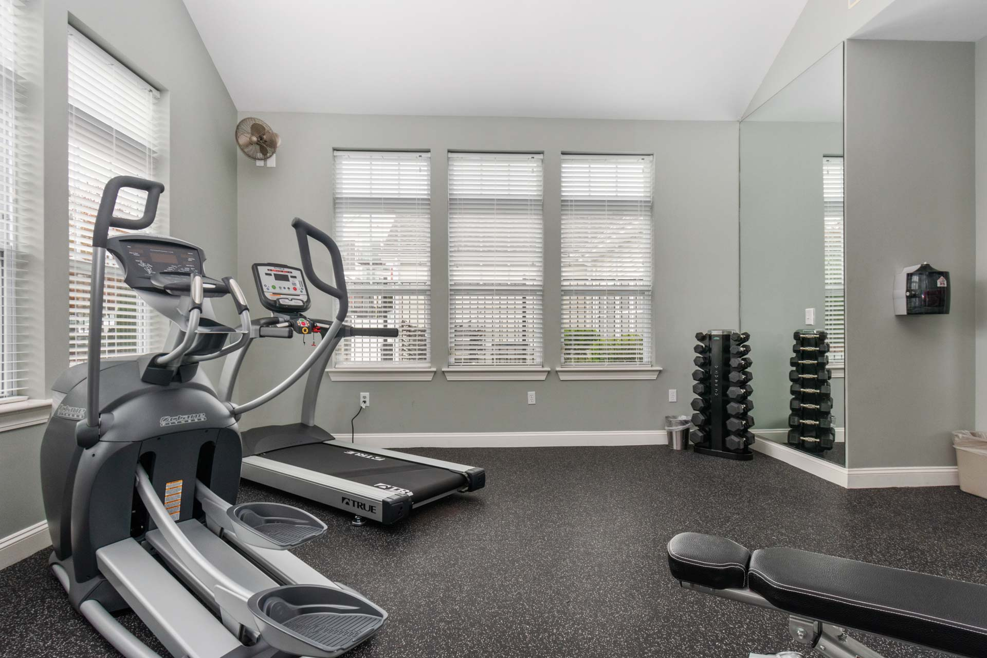 Resident fitness center at Saunders Crossing Apartments in Lawrence, MA