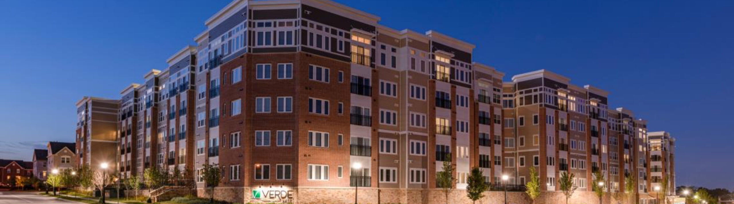 View of the Verde Apartments building that Dolben manages in Maryland