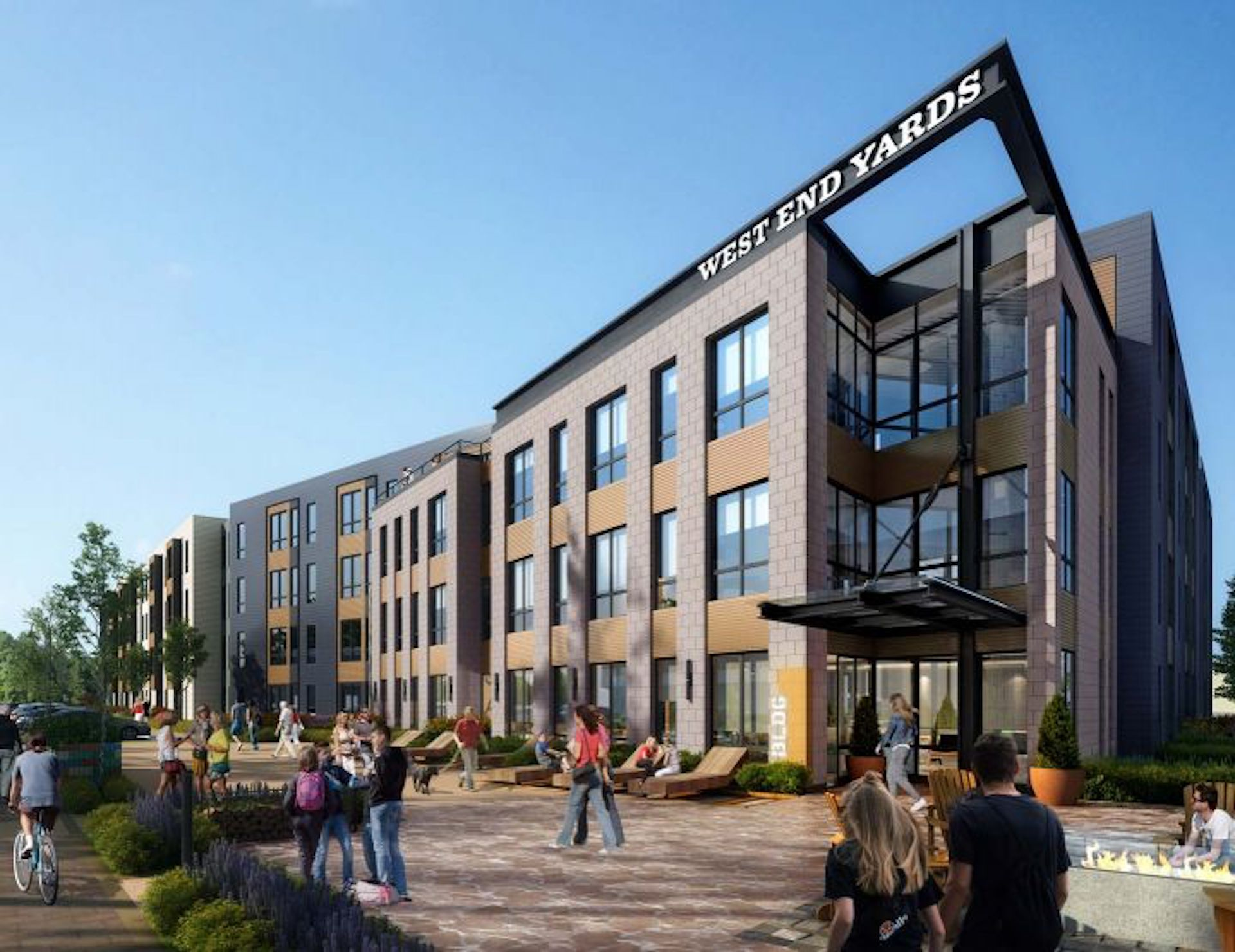 West End Yards Apartments, managed by Dolben, in Portsmouth, New Hampshire